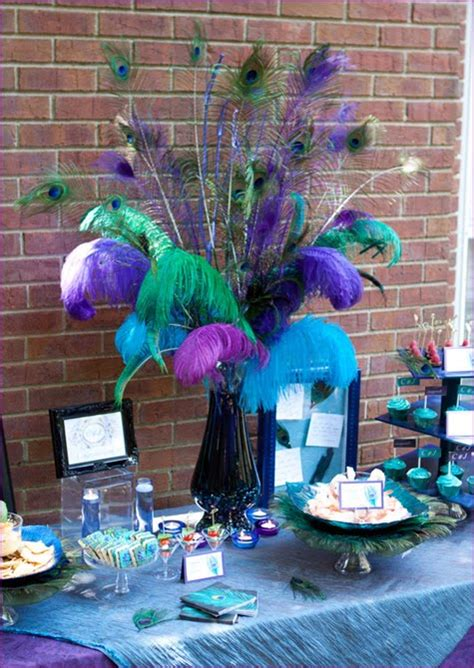 peacock themed decorations sooti peacock themed engagement