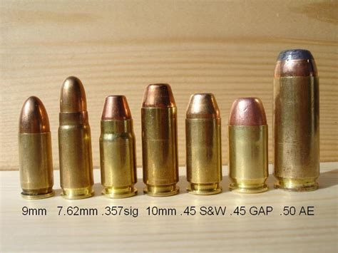 weapons different types of bullets