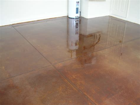 Concrete Garage Floor Stain by Acid Stained Concrete Floors Countertops Montavlo Garage