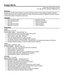 maintenance janitorial resume exles maintenance