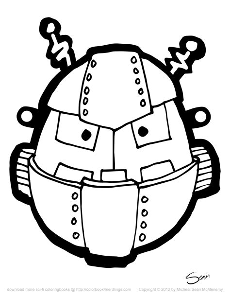 printable robot mask 8 free robot halloween masks colorbook 4 nerdlings
