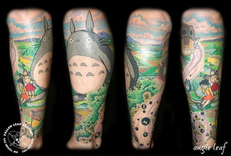 my neighbor totoro tattoo my totoro by angela leaf tattoos