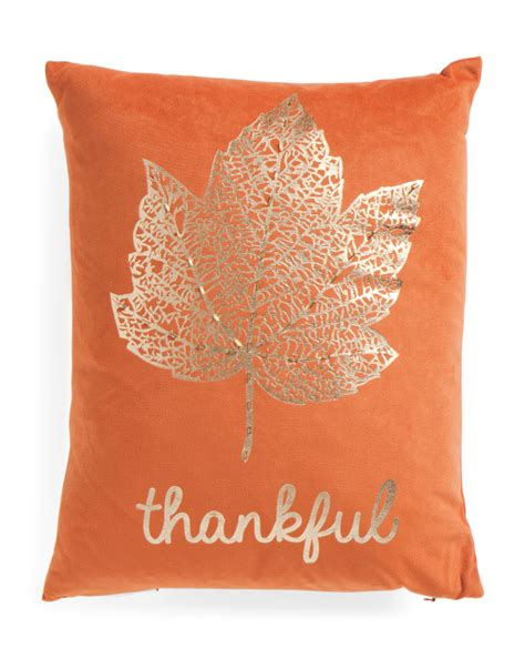Tj Maxx Decorative Pillows by 14x18 Velvet Thankful Pillow Printed Pillows T J Maxx