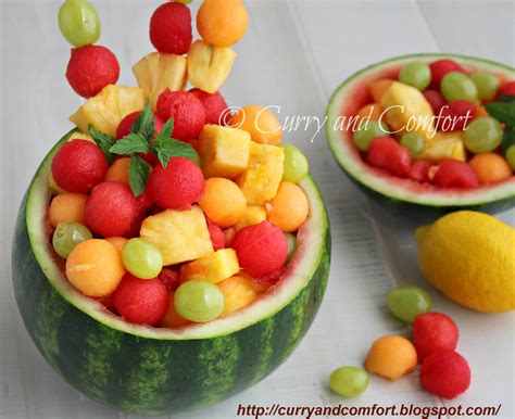 fruit salad kitchen simmer fruit salad in watermelon bowl