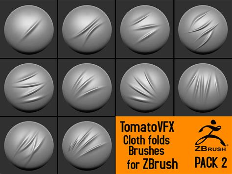 zbrush video tutorial italiano tomatovfx cloth folds brushes pack 2 on behance