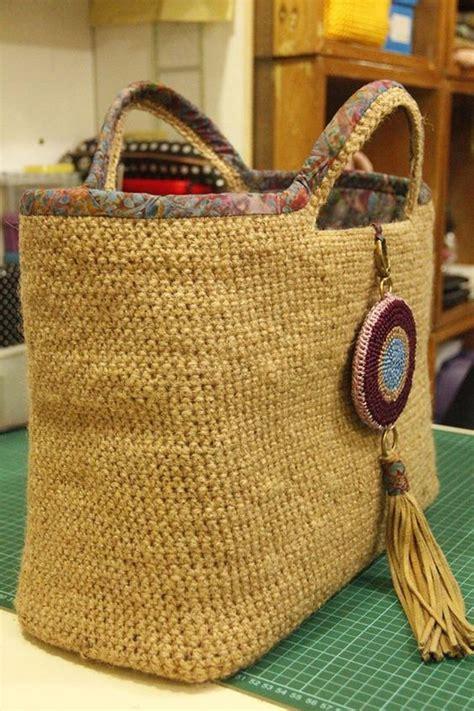 crochet jute bag pattern jute crochet bag my own patterns bags pinterest bags