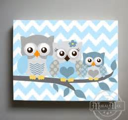 Owl Nursery Decor Owl Decor Boys Wall Owl Canvas Owl Nursery Owl Childrens Childrens Room