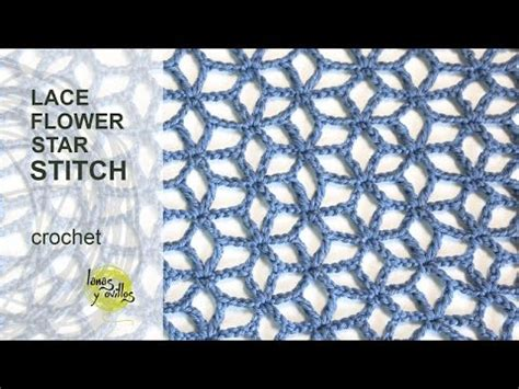 english patterns com tutorial lace star flower crochet stitch in english youtube