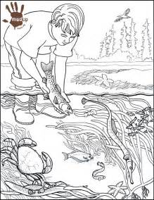 Pencil Drawing Water Pollution Sketch Coloring Page sketch template