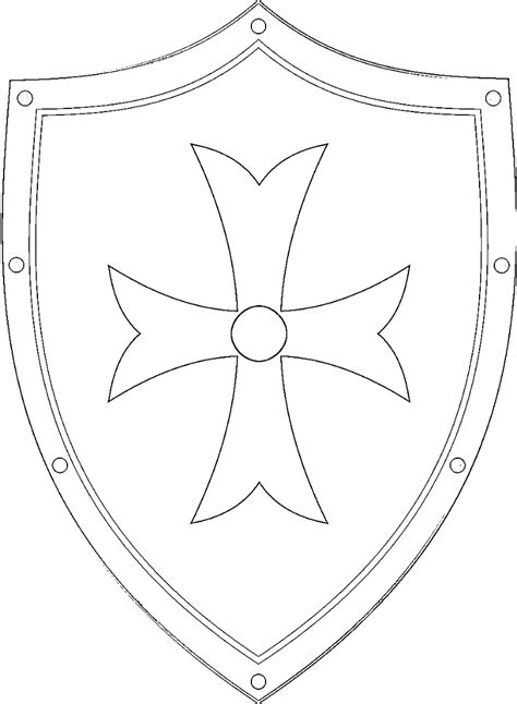 coloring page of a knight s shield medieval europe coloring pages