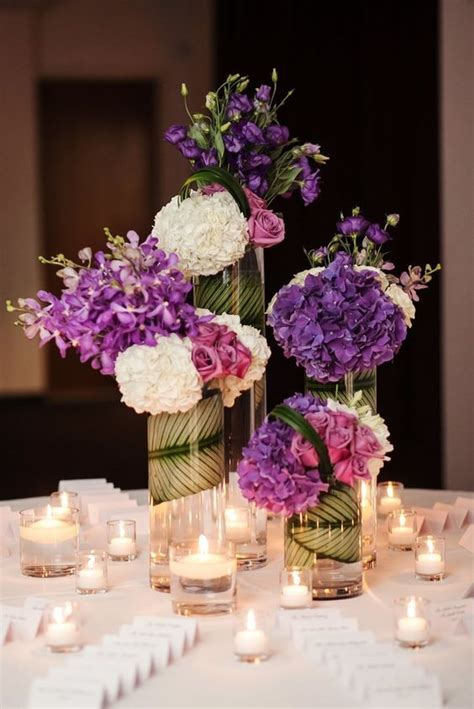 best 25 purple wedding centerpieces ideas on