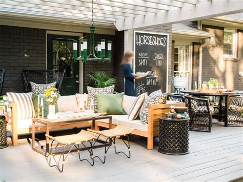 backyard cout party how to host a rustic fall backyard party hgtv