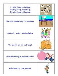 tongue twisters for young students