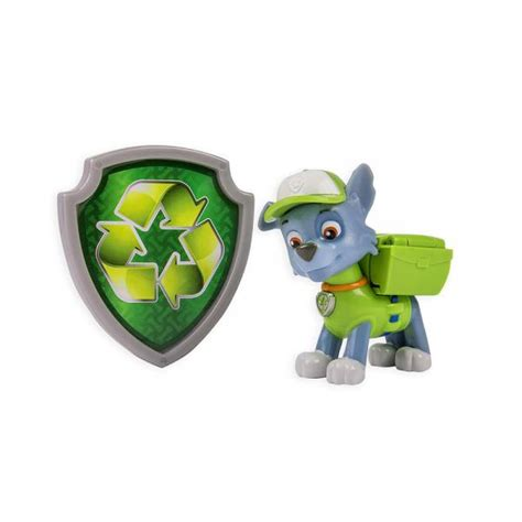 Paw Patrol Pack Pup Badge Rocky nickelodeon paw patrol rocky recycle pack pup