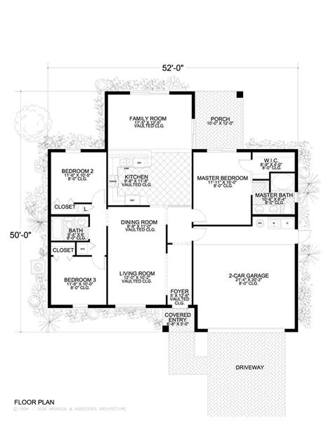icf concrete home plans concrete block icf home with 3 bdrms 1552 sq ft house plan 107 1044