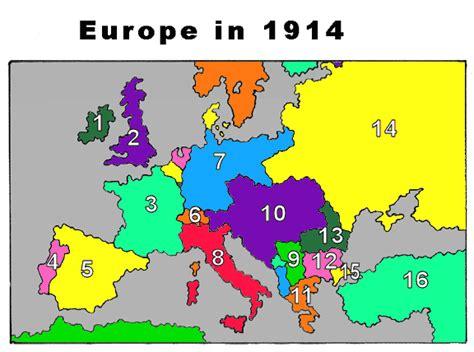 printable map europe 1914 world war i