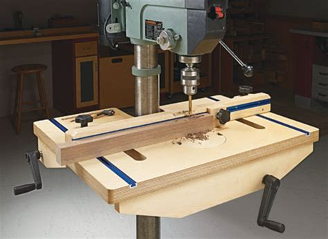 drill press table woodsmith plans