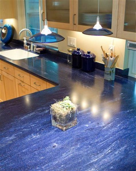 Corian® Elderberry looks quite striking in this kitchen