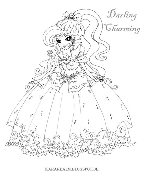 Kara Realm Ever After High Coloring Pages Ever After Cahier De Coloriage Disney L