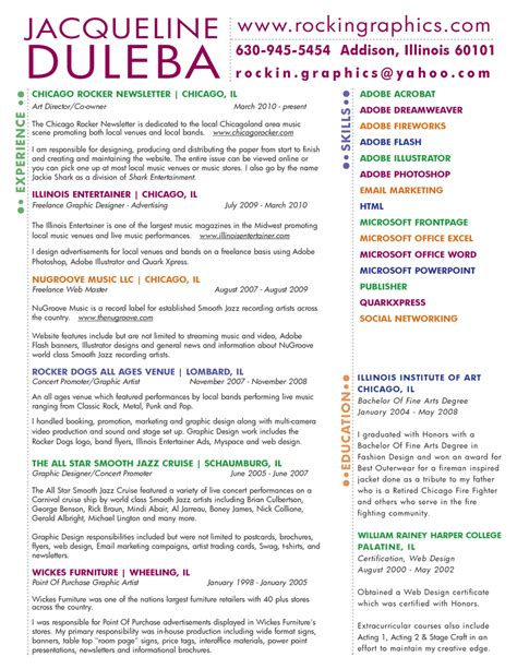 color resume 28 images custom two page resume