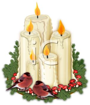 candele chion royalty free clipart image candles and robins