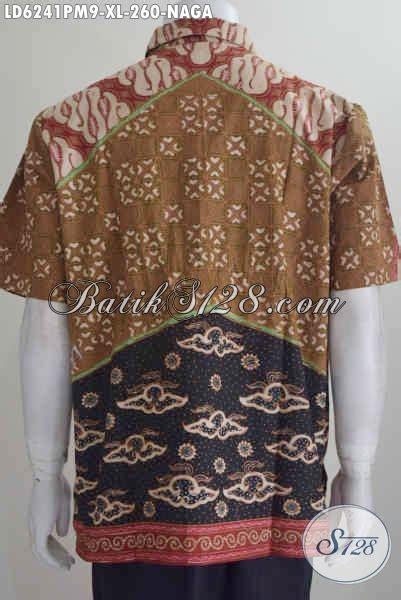 kemeja batik halus berbahan adem proses cap tulis motif baju batik motif naga kemeja batik lengan pendek mewah
