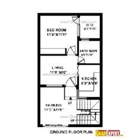 house map design 20 x 50 20 x 35 size plot map gharexpert com