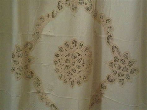 battenburg lace shower curtain wbattenburg shower14 sc6232 ecru the lace and linens co