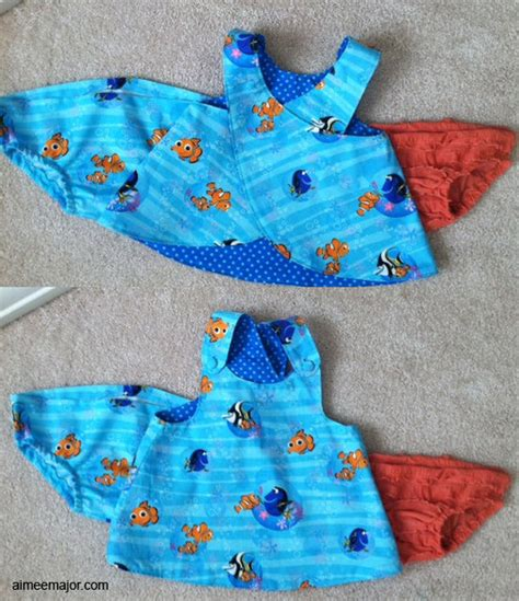 free pattern newborn dress aimeemajor com finding nemo baby dress