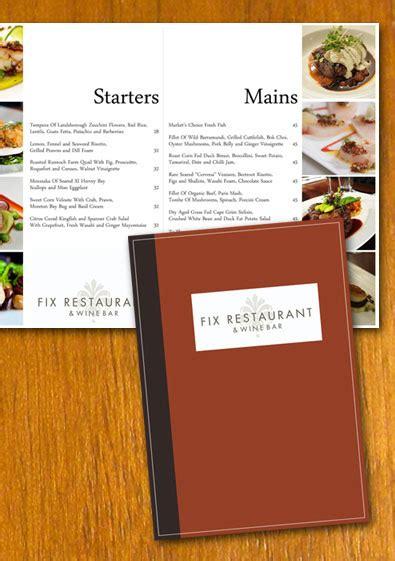 one page minimal restaurant menu template