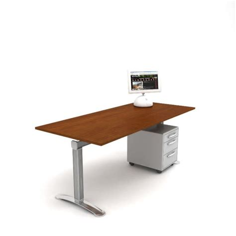 metal and wood desk with drawers wood and metal office desk with drawers 3d model