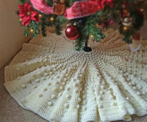 cable christmas skirt 12 diy tree skirt tutorials random acts of crafts