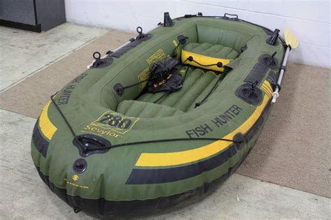 inflatable fishing boat with trolling motor sevylor fish hunter hf280 inflatable boat raft with