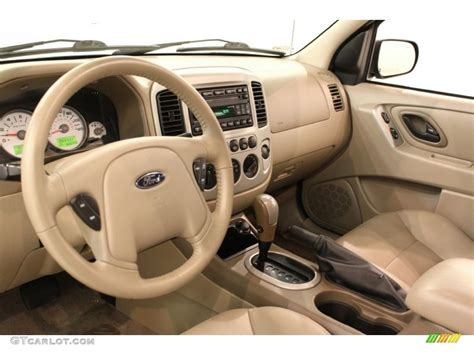 medium pebble beige interior 2005 ford escape limited