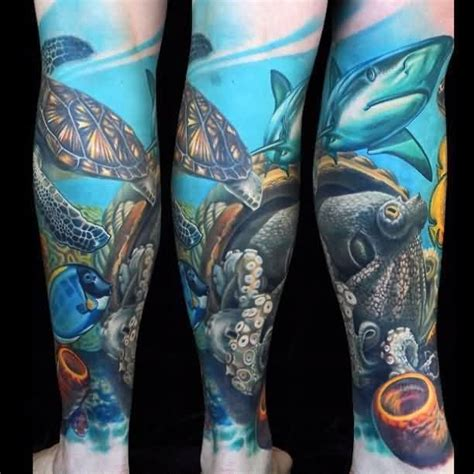 underwater tattoo sleeve underwater sleeves more images