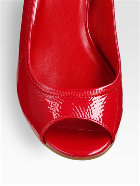Heels Tali T cole haan air tali patent leather peep toe cork wedge