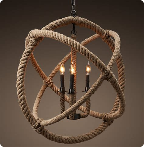 Rope Chandelier Diy Rope Orb Chandelier