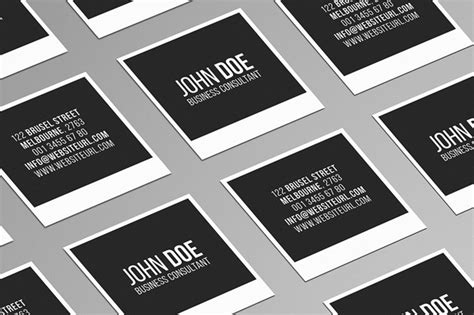 Mini Square Business Card Psd Templates Design Graphic Design Junction Square Business Card Template Free