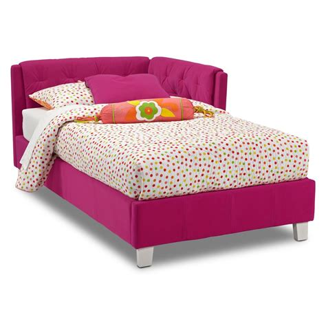 pink twin bed jordan twin corner bed pink value city furniture