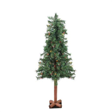 christmas trees at walmart willows ca 4 x 24 quot pre lit traditional woodland alpine artificial tree multi lights