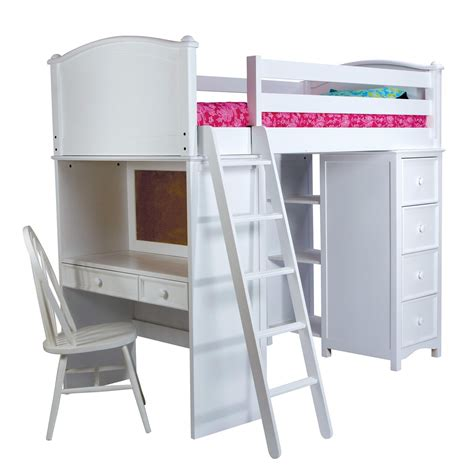bunk beds with storage and desk cooley sleep study and storage twin loft bunk beds