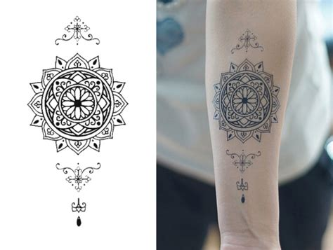 aliexpress com comprar hermosa mandala tattoo inspired