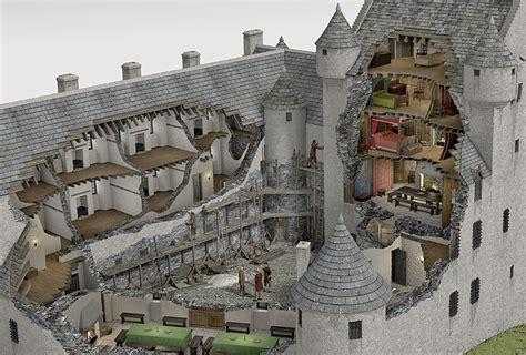 Small Castle Floor Plans Kilchurn Castle Illustrated Historical Reconstruction