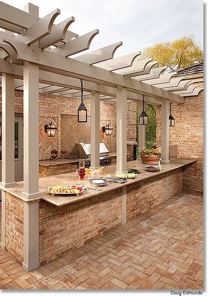 pergola an outdoor kitchen bar for buffet style