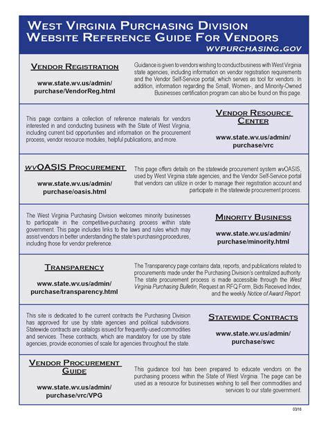 bid websites west virginia purchasing division