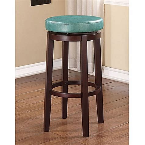 Teal Colored Bar Stools by Buy Swivel Barstool In Teal From Bed Bath Beyond