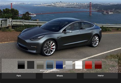 model 3 colors tesla fan creates an unofficial model 3 design studio