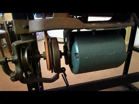 how a clutch sewing machine motor works youtube