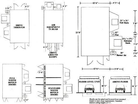 Paint Spray Booth Design - american paint booths inc booth specifications