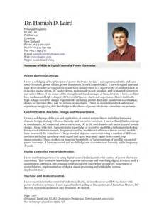 Curriculum Vitae Template Academic by Hamish D Laird Cv